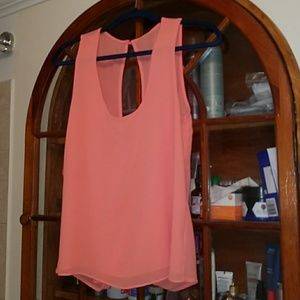 Coral peach boutique tank open back sargasso